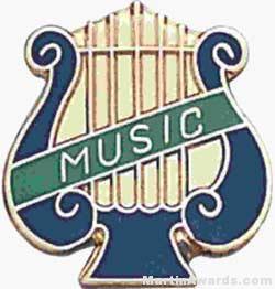 """5/8"""" Enameled Music Pin"""