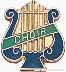 "5/8"" Enameled Choir Music Pin"