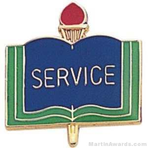 3/4″ Service School Award Pins 1