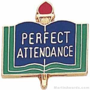 """3/4"""" Perfect Attendance School Award Pins"""